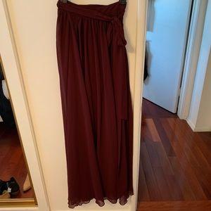 NWOT Nasty Gal Burgundy Skirt